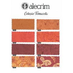 TRICOLINE 100% ALGODÃO ALECRIM TECIDOS Terracota - TR-01